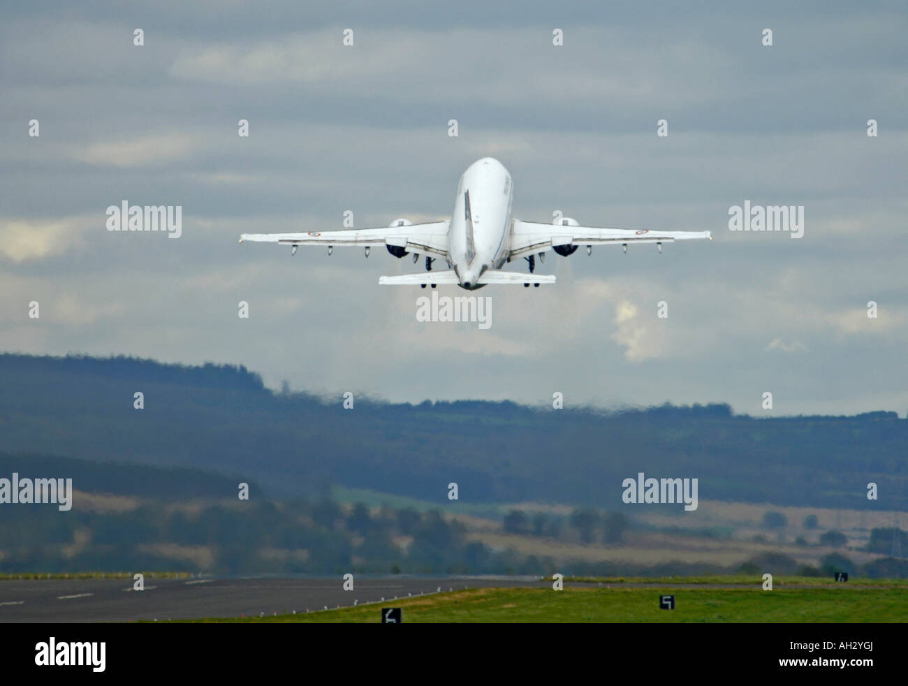 French Airbus 310-340 Based at Charles de Gaulle (Roissy) Twin Engine Airliner Built by The Airbus Consortium - Stock Image