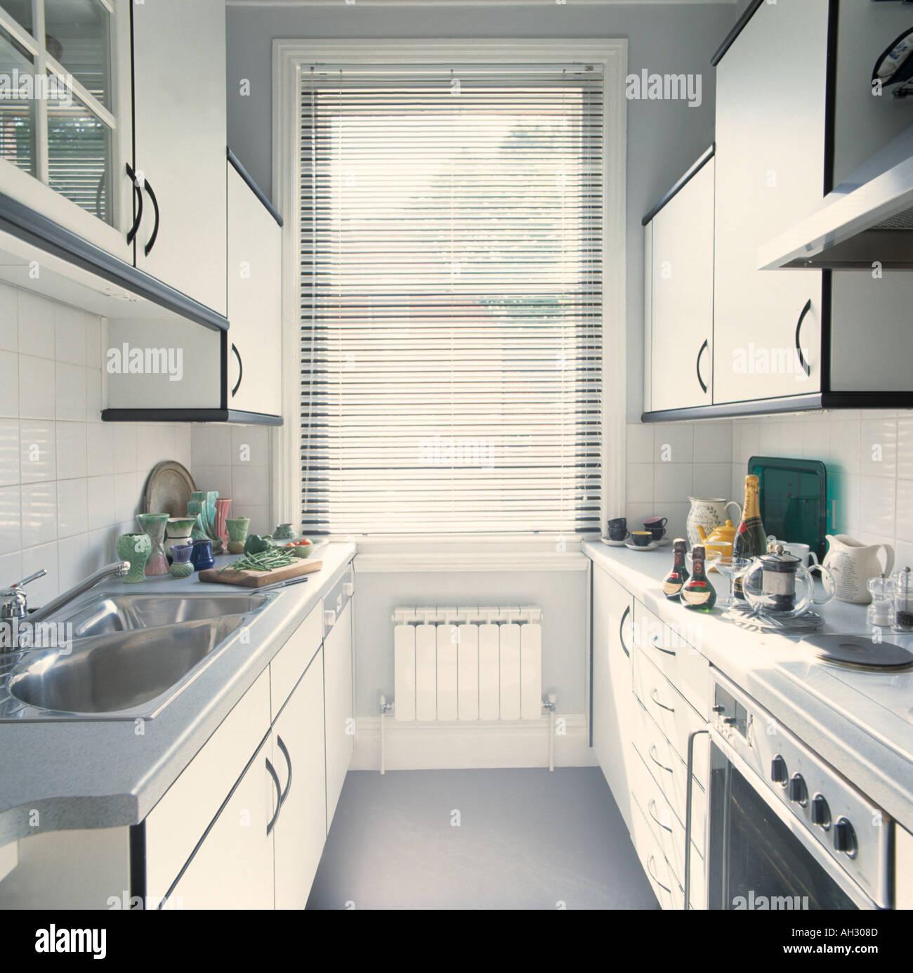 Monochromatic Kitchen Stock Photo Alamy
