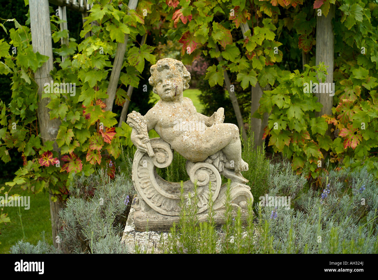 Garden Statue At Herstmonceux In East Sussex UK   Stock Image
