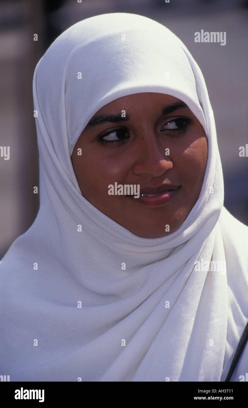 Portrait of a Muslim woman London UK Stock Photo