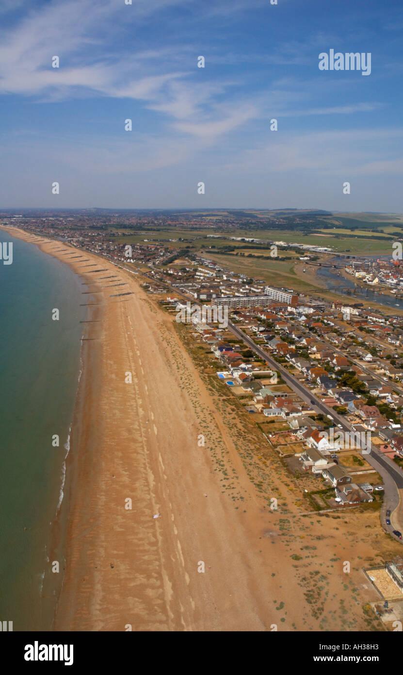 Aerial View , Shoreham Beach - Stock Image