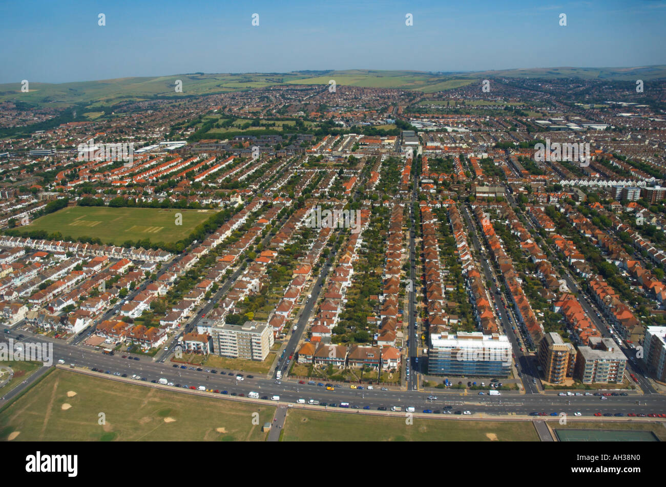 Aerial View , Hove Seafront - Stock Image