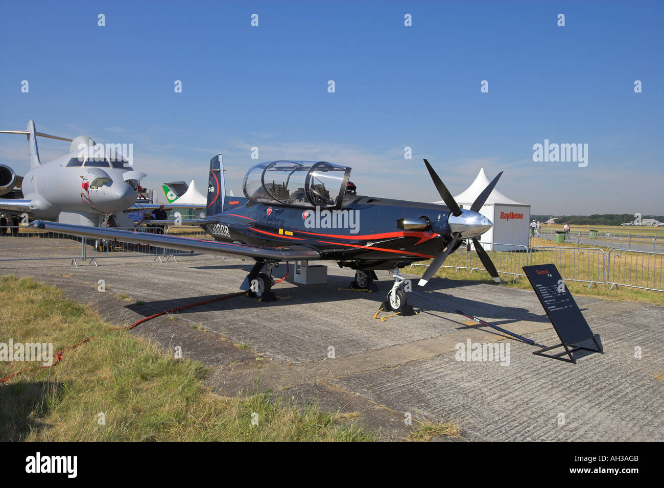 Beechcraft T6 by Raytheon - Stock Image