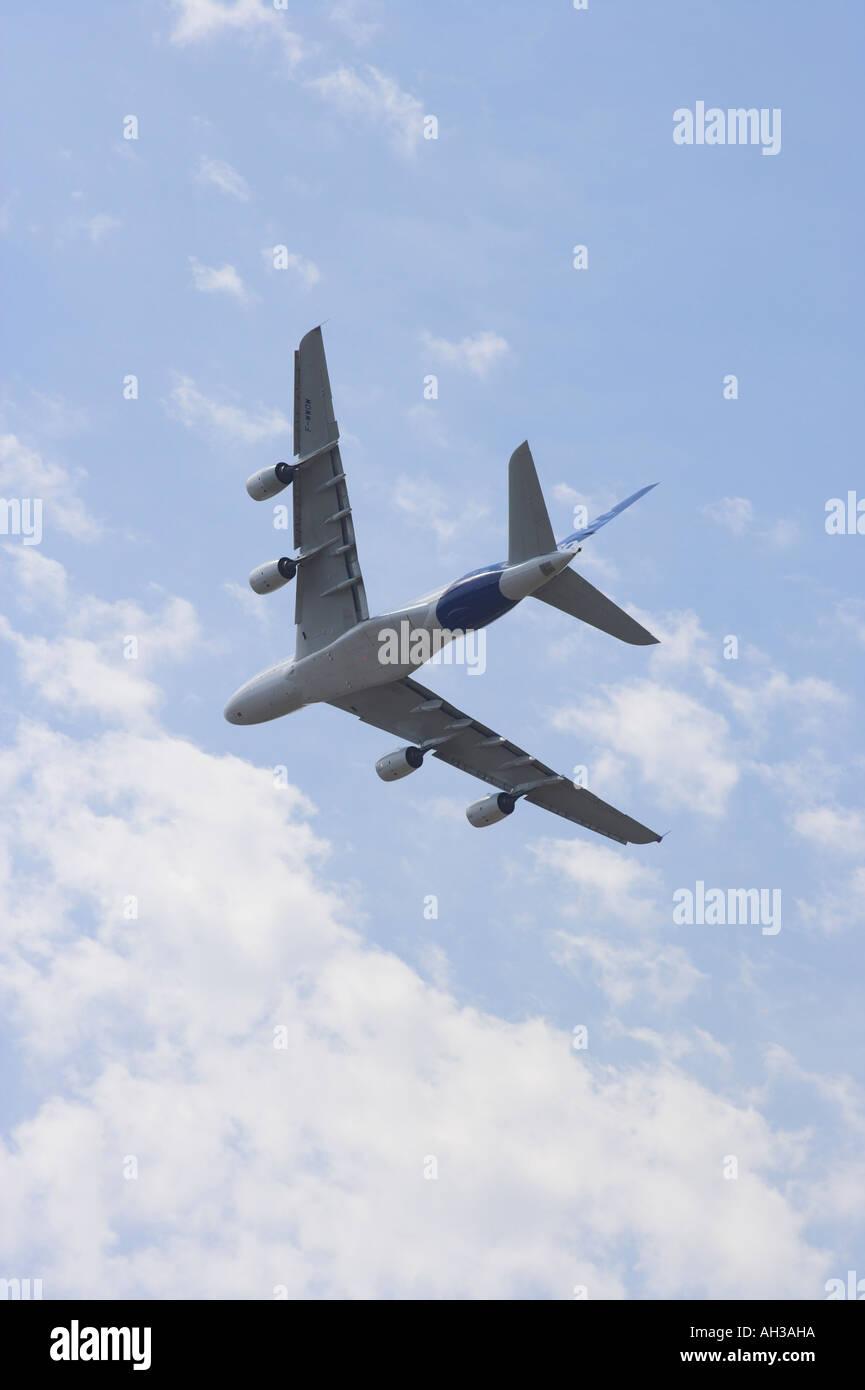 A380 Airbus super jumbo F-WWOW - Stock Image