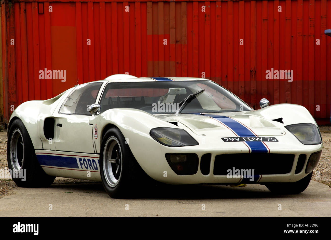 Ford Gt  Racing Car Original Car Not A Replica Stock Image