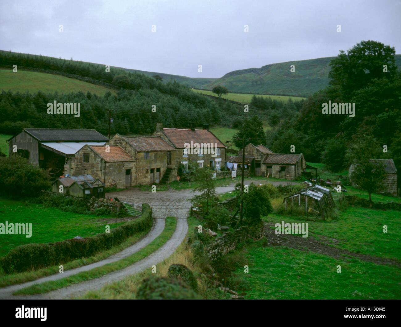 North York Moors hill farm near Chop Gate, Bilsdale, North York