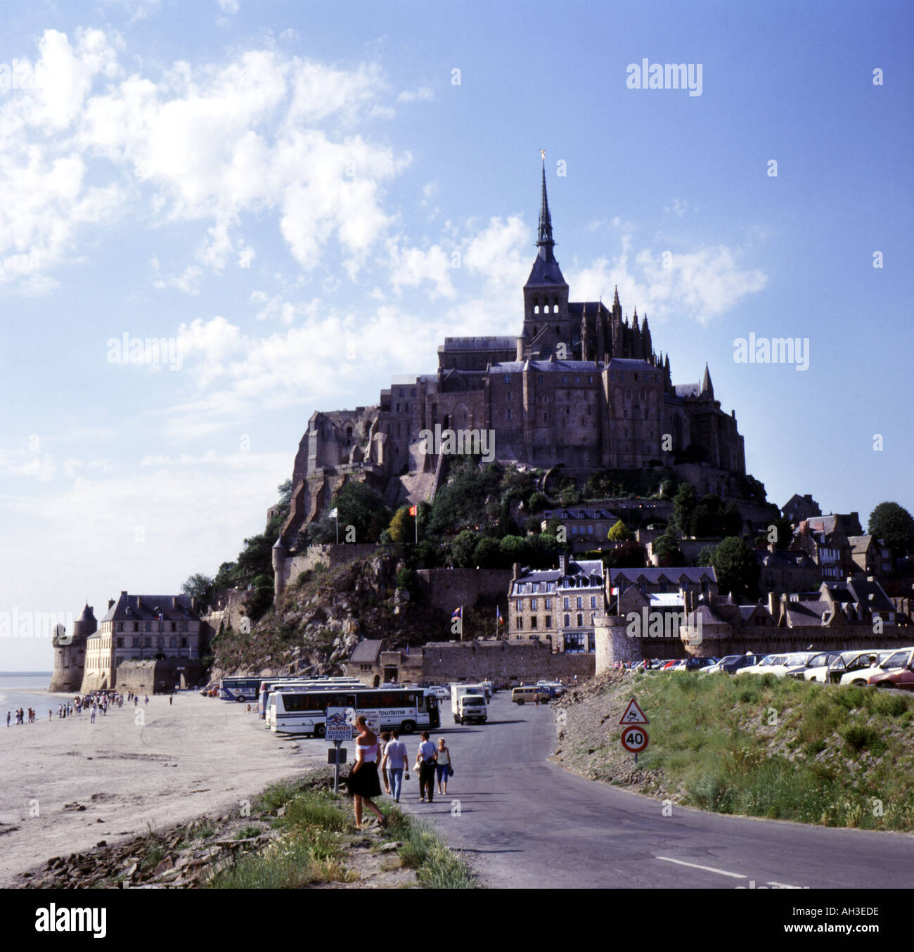 Mont St Michel Normandy France - Stock Image