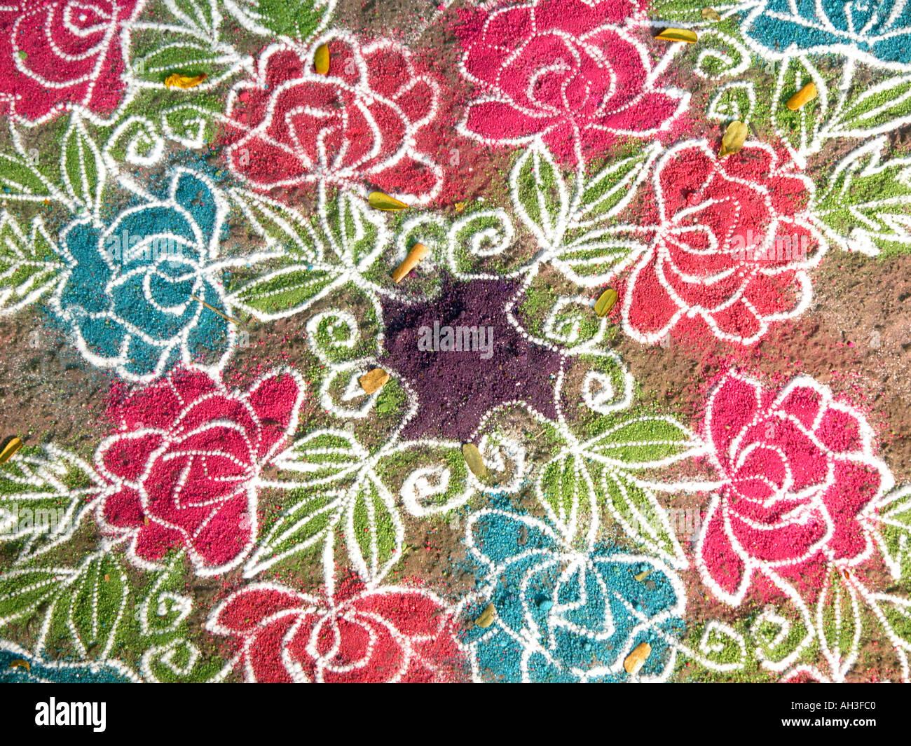Rangoli pattern - Stock Image