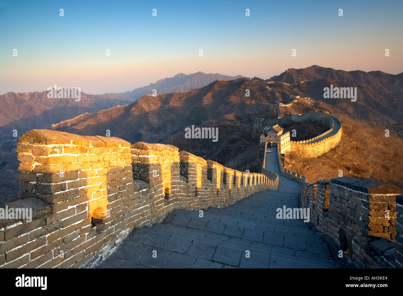 The Great wall of China near Beijing - Stock Image