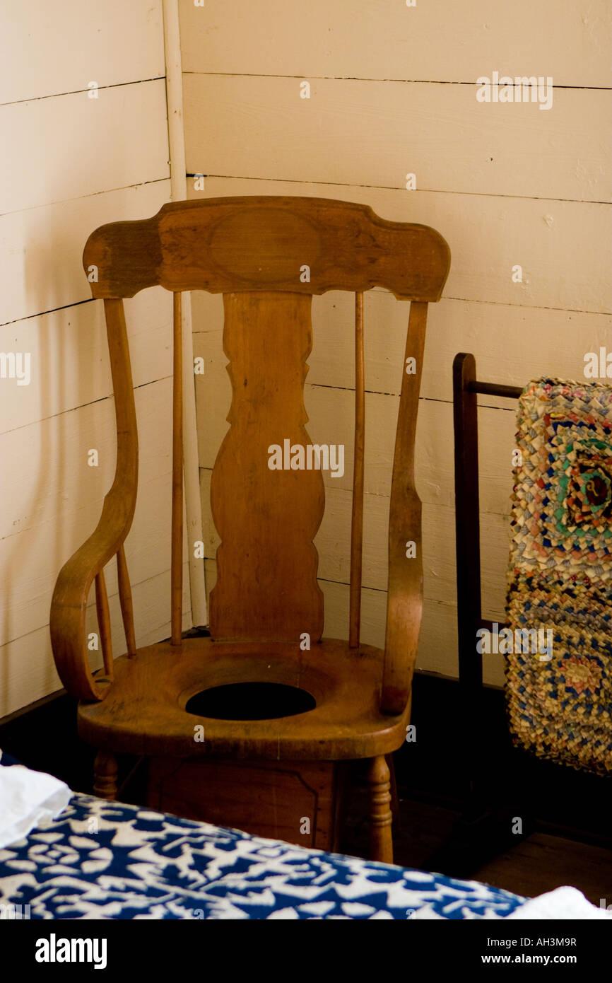Antique Wooden Toilet Chair - Antique Wooden Toilet Chair Stock Photo: 14347762 - Alamy