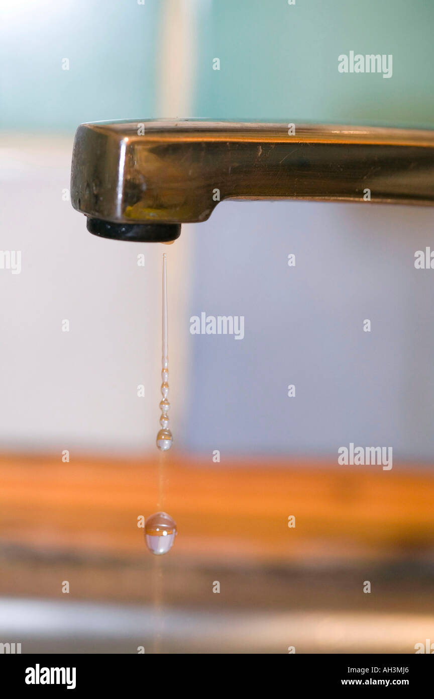 a dripping tap - Stock Image