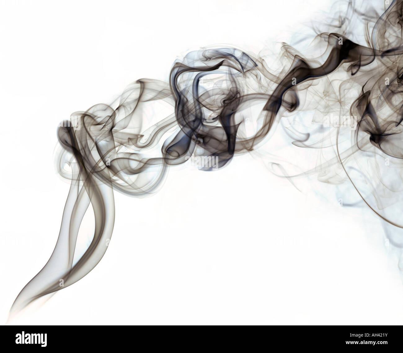 Rising swirling smoke - Stock Image