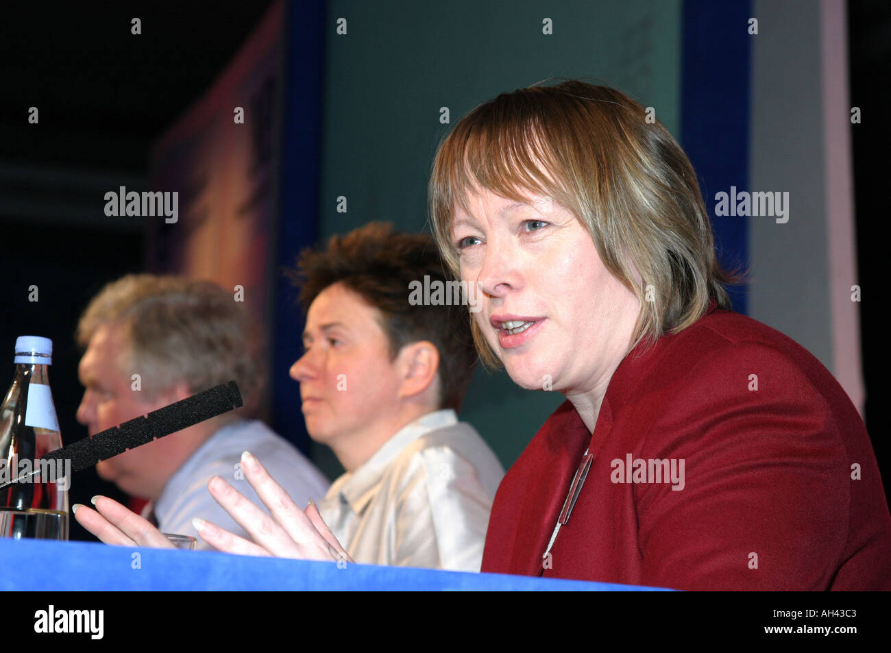 Maria Eagle Labour MP for Liverpool Garston UK Minister for Works and Pensions Speaking at a London Press Conference dec 2003 - Stock Image