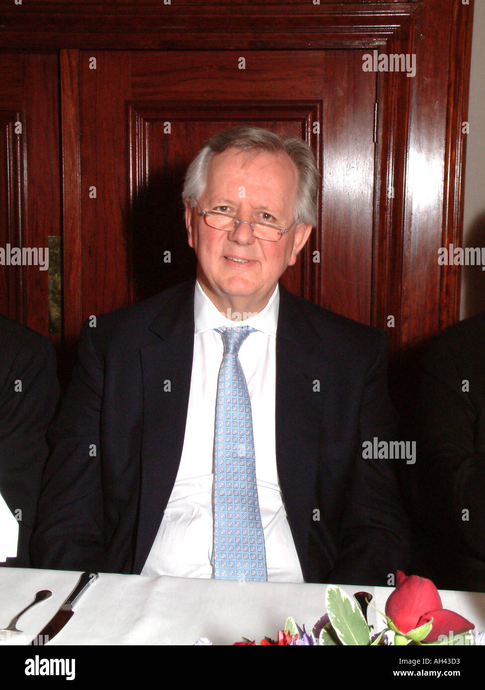 Steven Norris Former Conservative MP and Minister Portrait London Mayoral Candidate Oct 2003 - Stock Image
