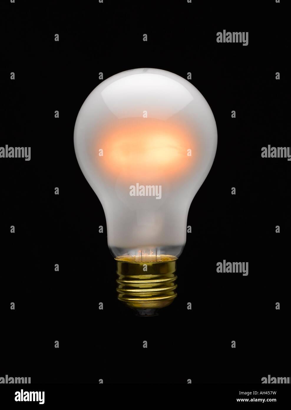Lit Lightbulb - Stock Image