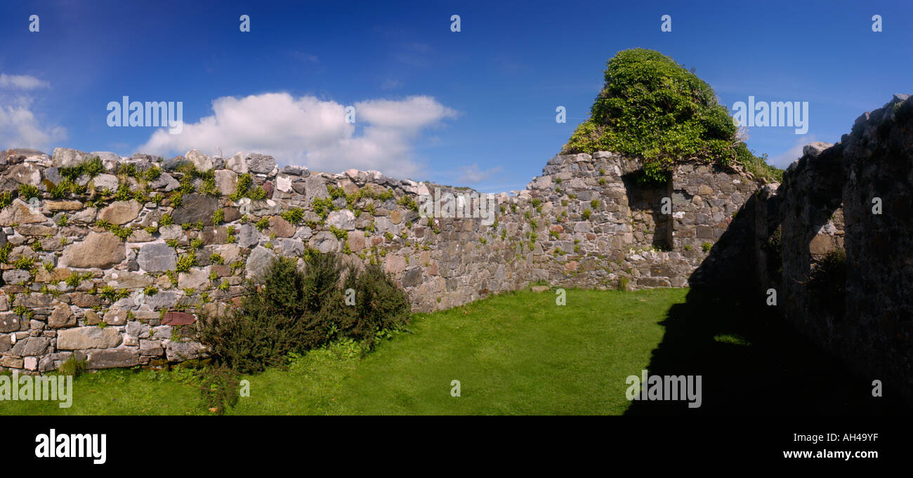medieval ruin of church, Isle of Skye, Scotland - Stock Image