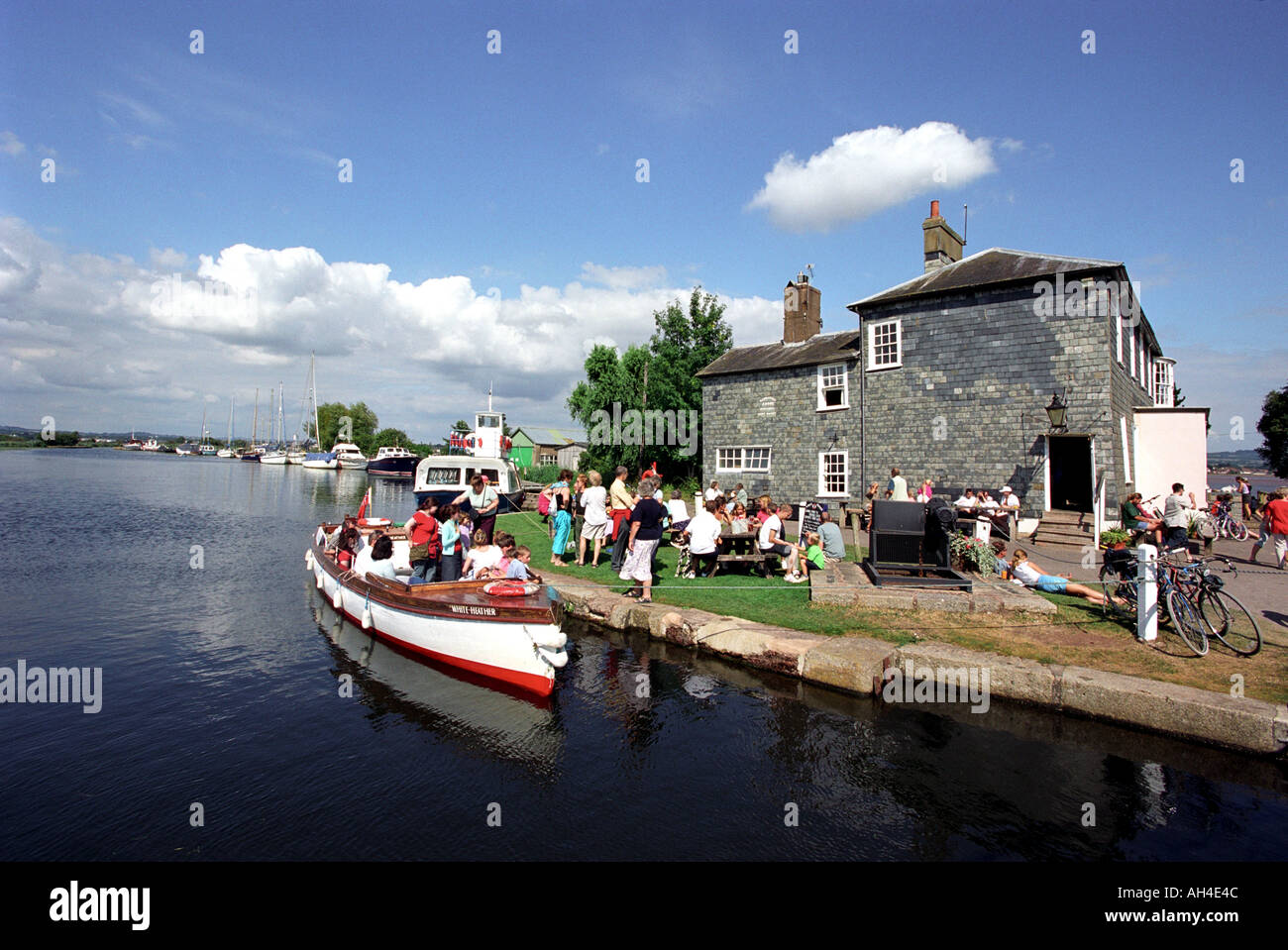 The Turf Locks pub on the Exeter Canal in Devon England UK