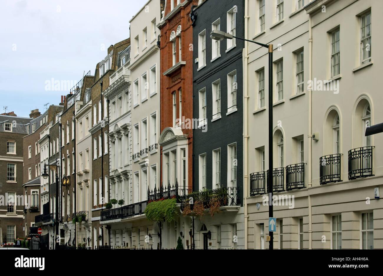Terraced Row Of Georgian Houses In Mayfair London W1 England