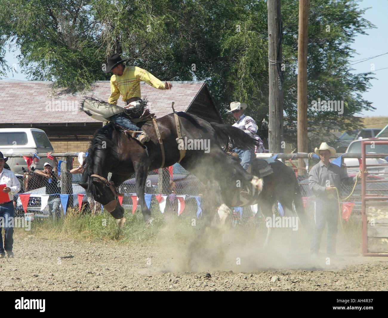 'bareback riding' - Stock Image