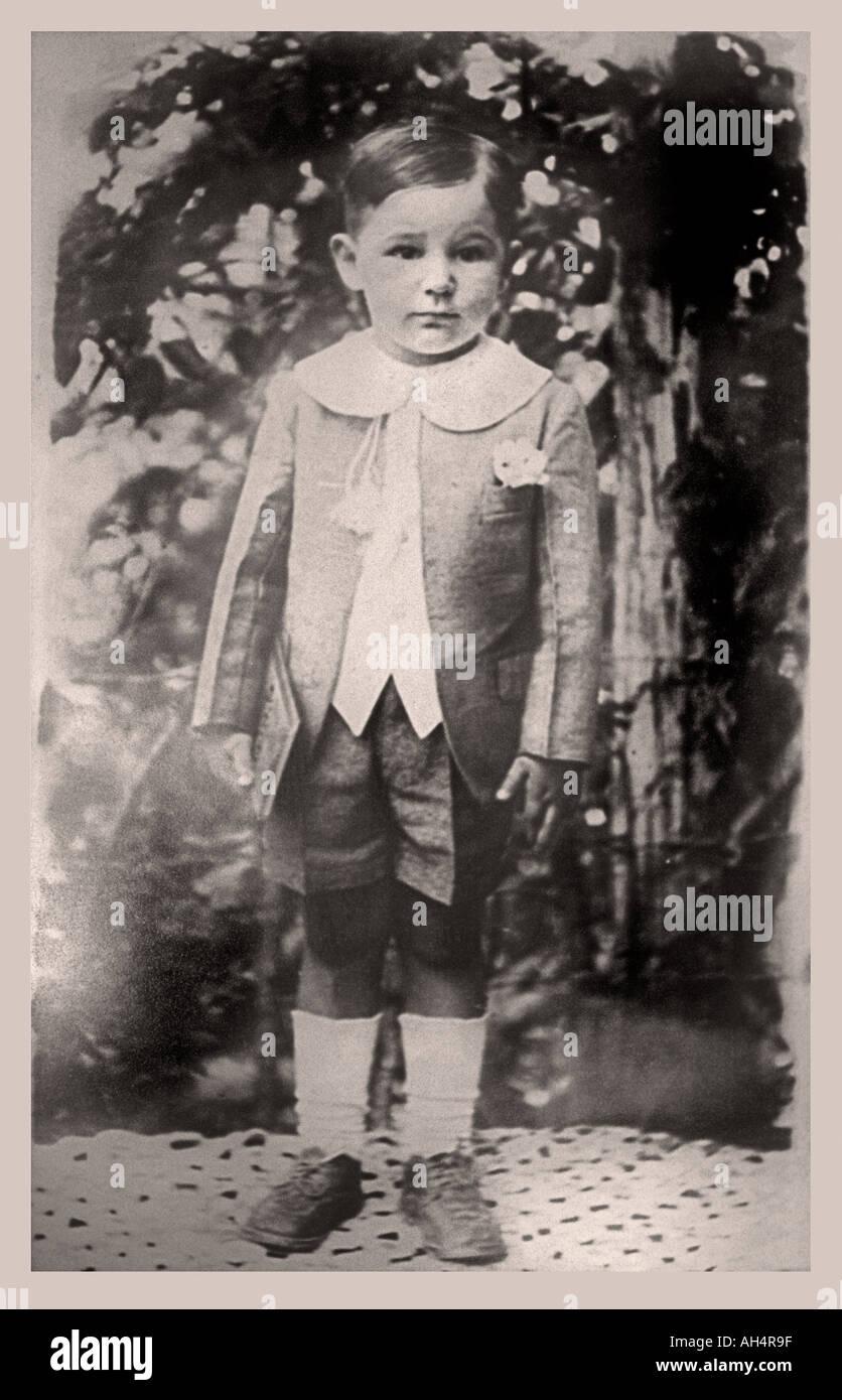 HISTORICAL PHOTOGRAPH Fidel Castro as a boy circa 1930 Fidel Alejandro Castro Ruiz Cuba - Stock Image