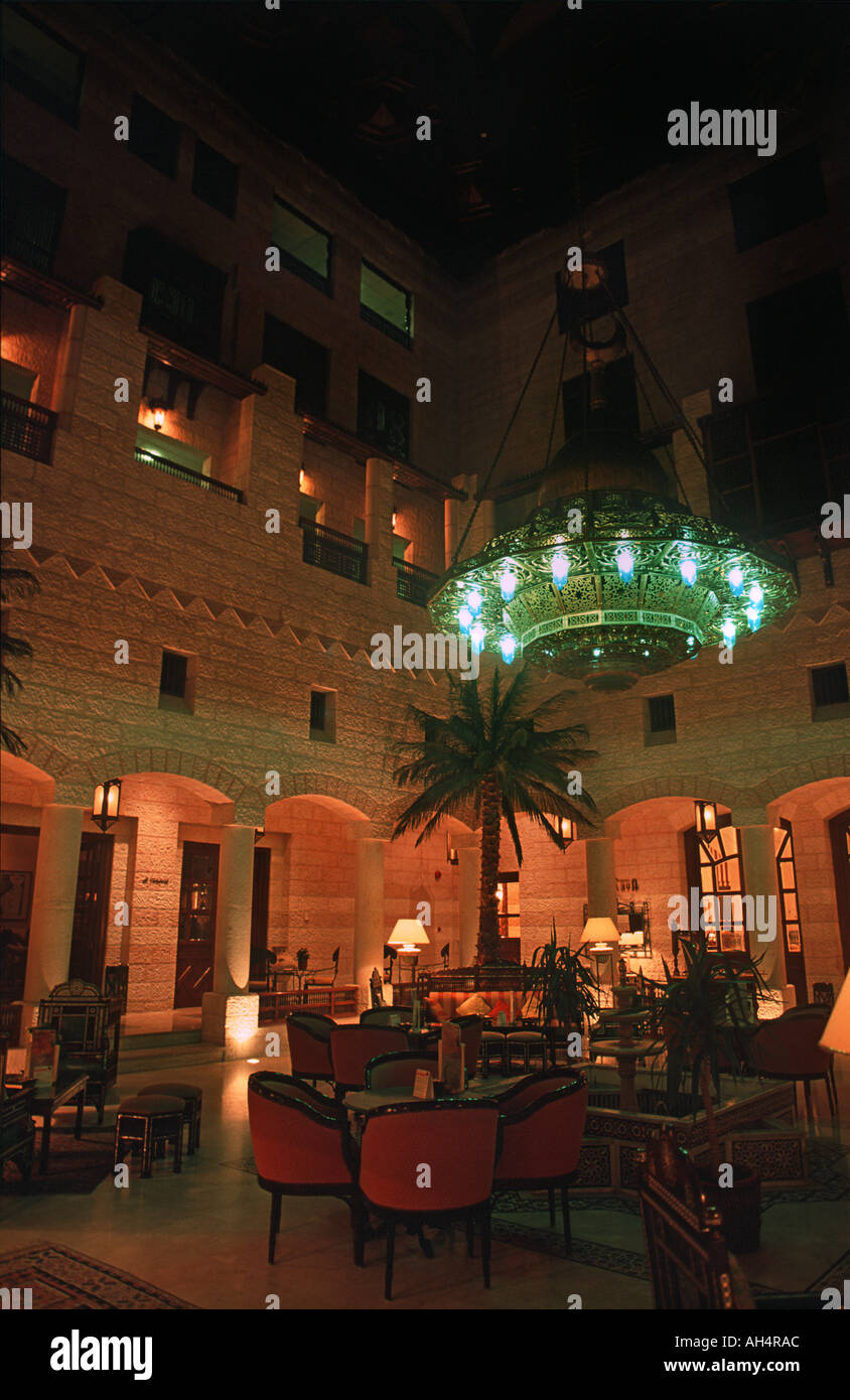 The Movenpick located right by the entrance to the ancient site of Petra is the finest hotel in the region Jordan - Stock Image