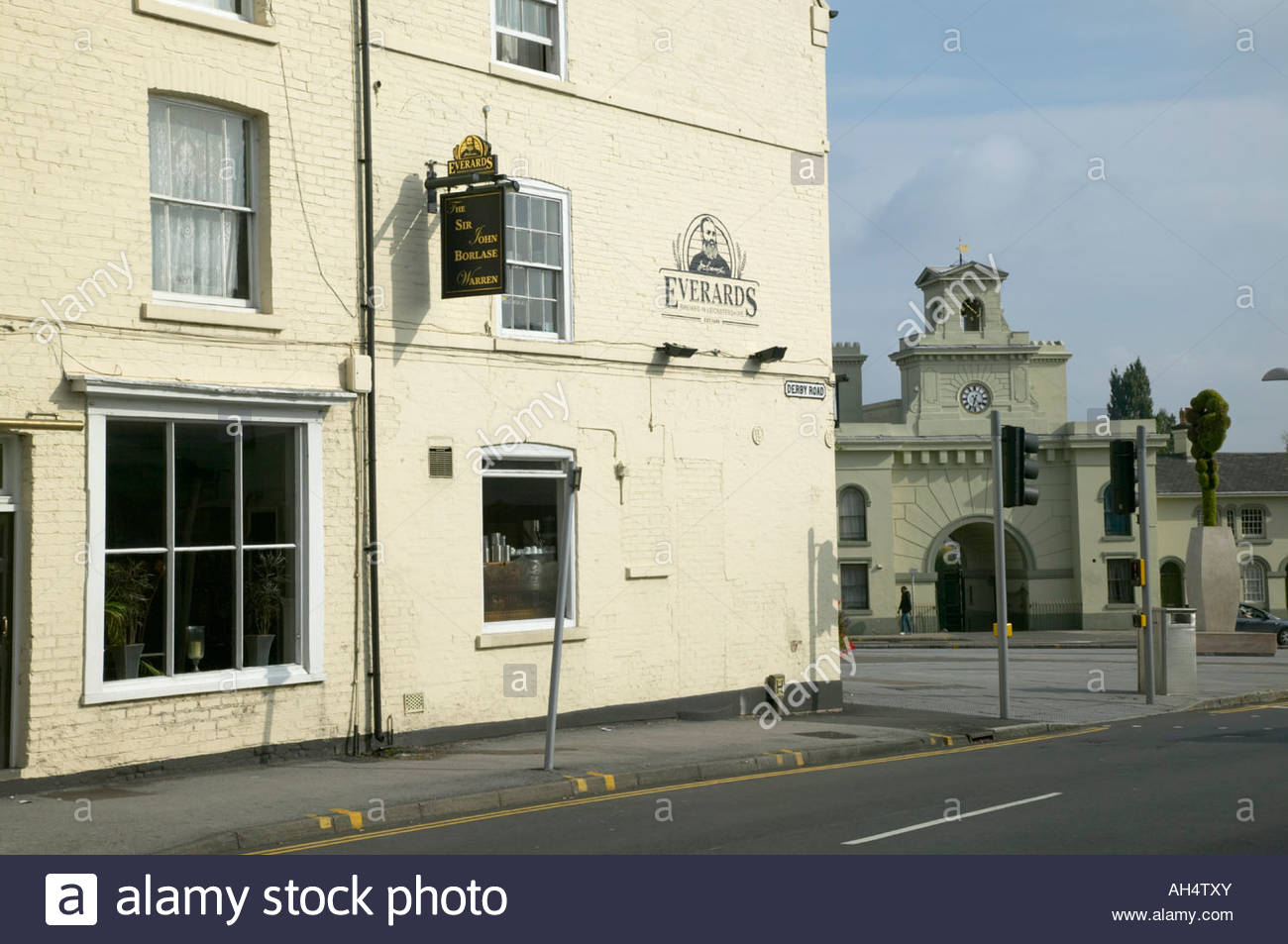 St John Borlase Warren public house Canning Terrace Alms Houses Canning Circus Nottingham - Stock Image