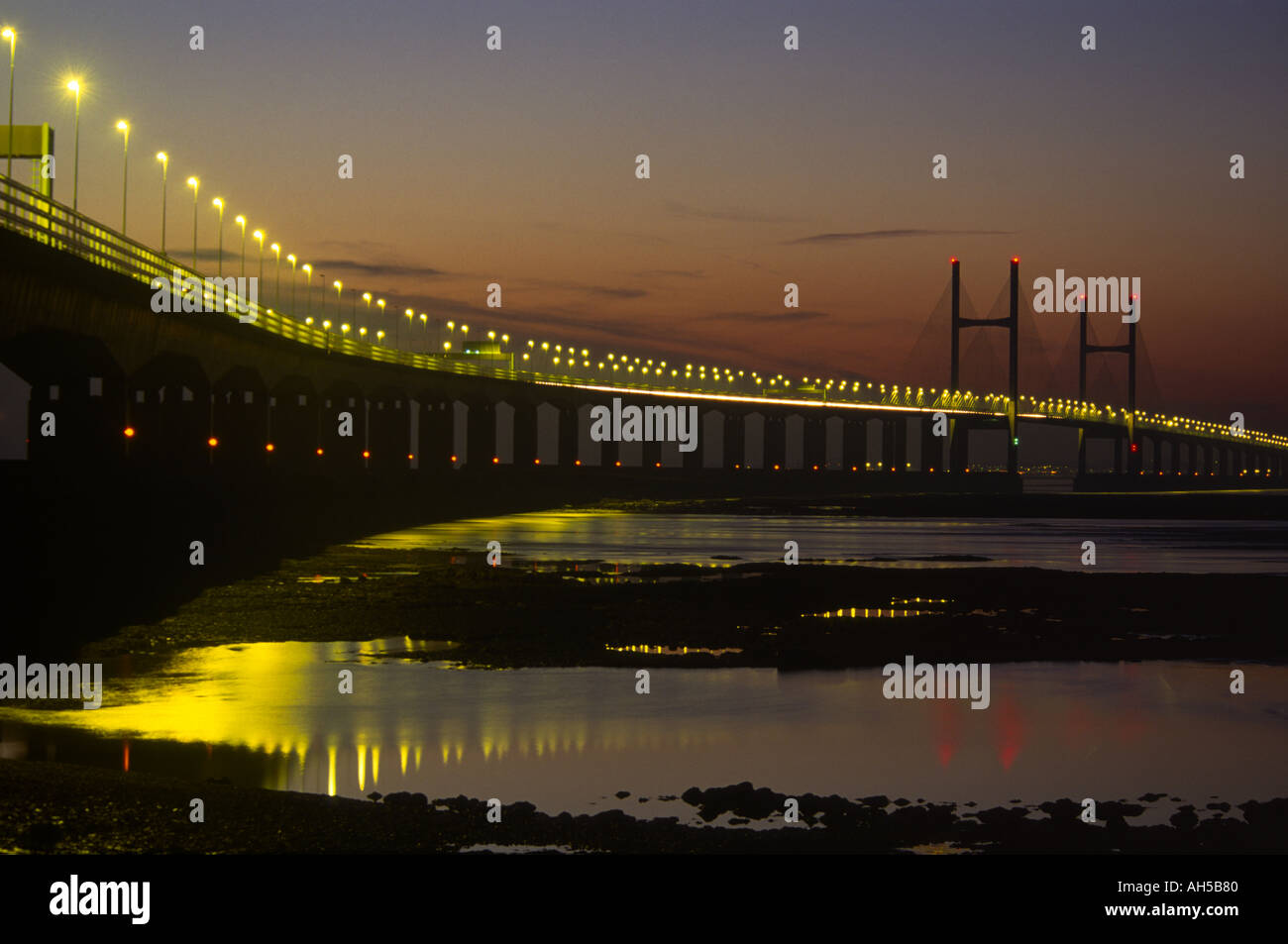 The new Severn Bridge Avon and Somerset England Stock Photo