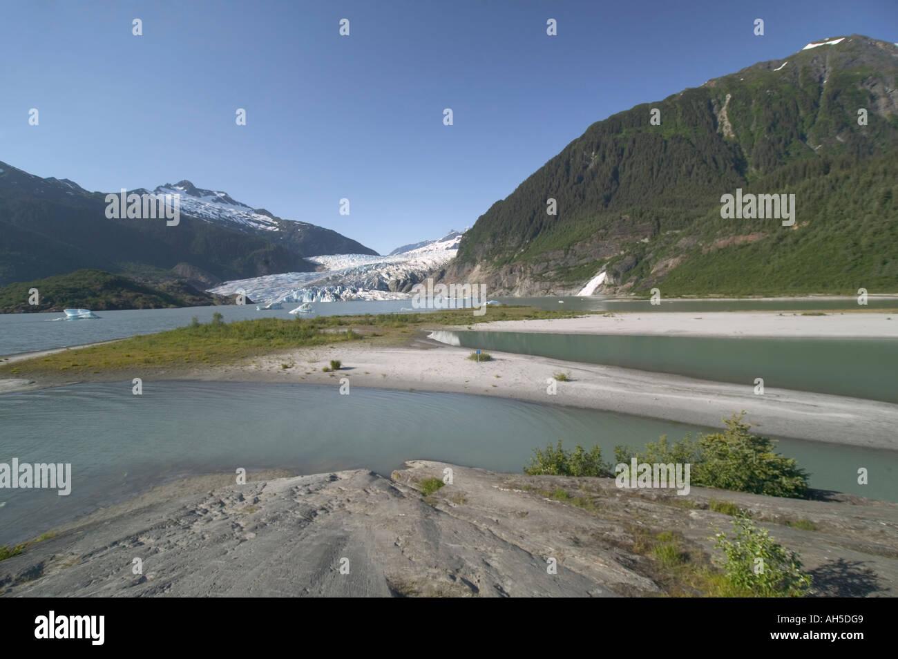 Mendenhall Glacier Juneau Alaska USA - Stock Image