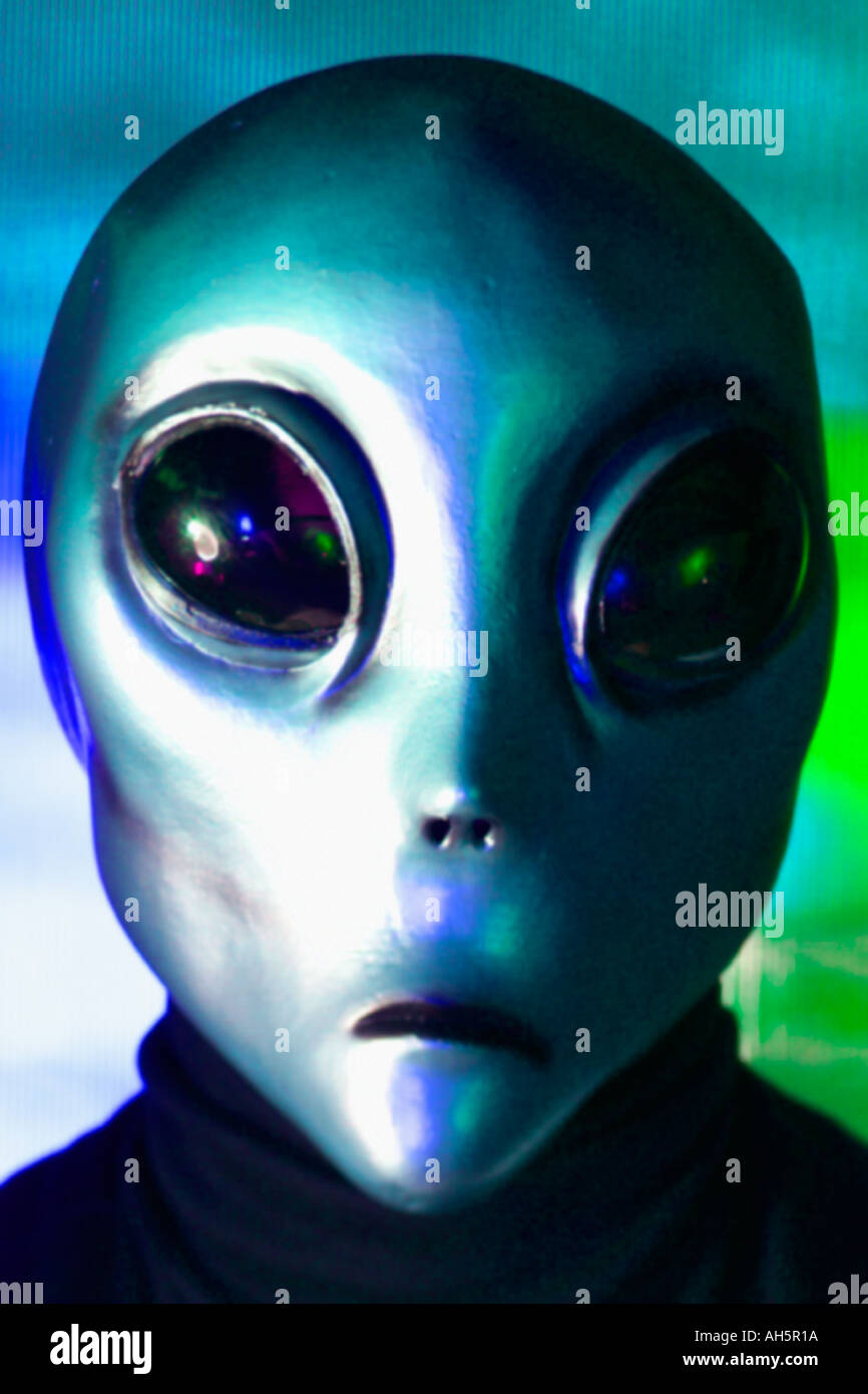 Alien visitor from out of space - Stock Image
