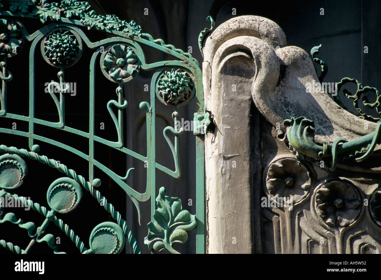 Ironwork Society of Authors Madrid Spain Europe - Stock Image