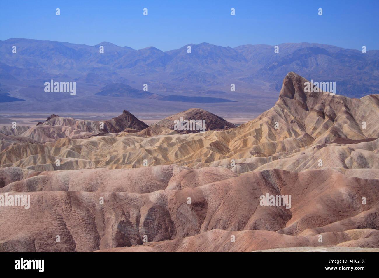 Death Valley National Park Zabriskie Point Stock Photo
