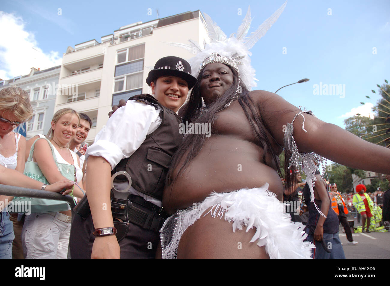 Large black woman posing