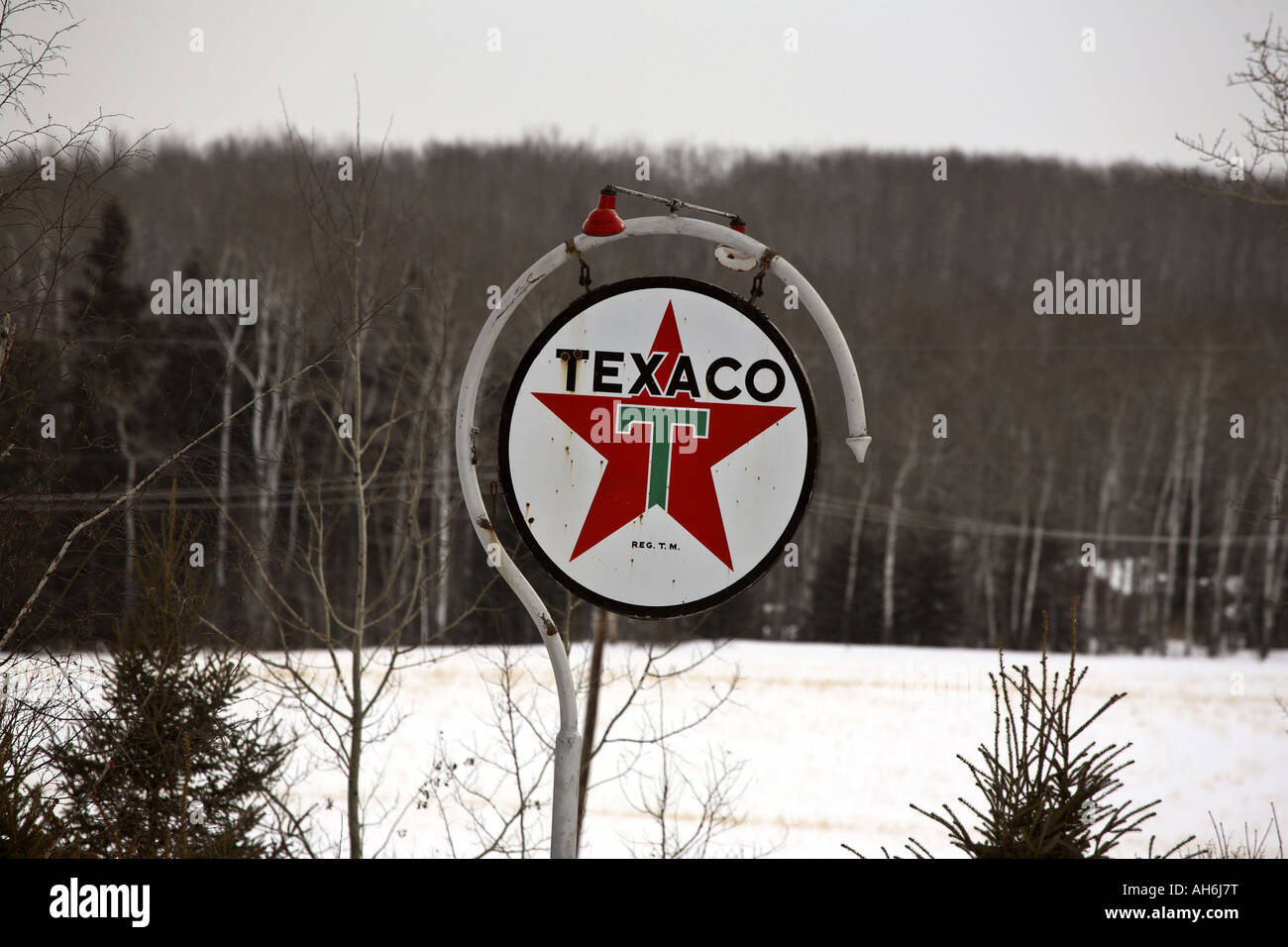 Old Texaco Sign Stock Photos & Old Texaco Sign Stock Images