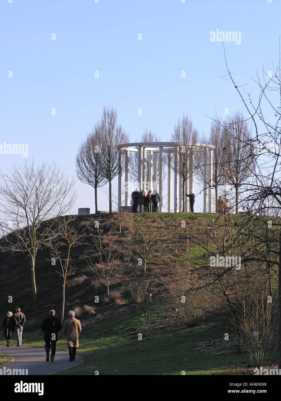 Rondell im Schlosspark Hohenheim Schloss Hohenheim Stuttgart Deutschland Stock Photo