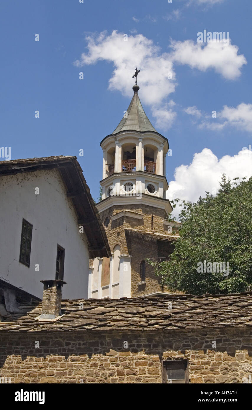 Church And Tower Of The Dryanovo Monastery Dryanovo In Bulgaria - Stock Image