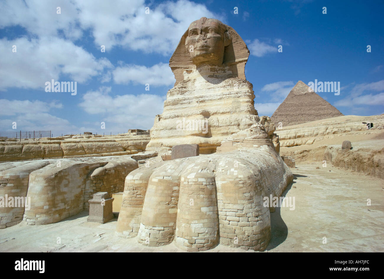 The sphinx Giza UNESCO World Heritage Site Cairo Egypt North Africa Africa - Stock Image