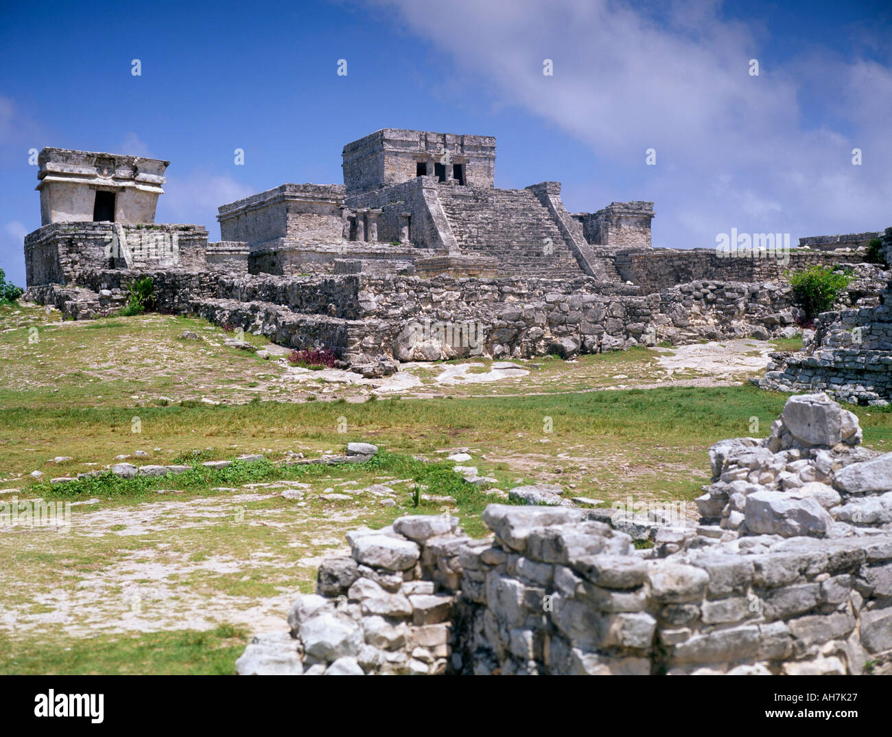 Mayan archaeological site Tulum Yucatan Mexico North America - Stock Image