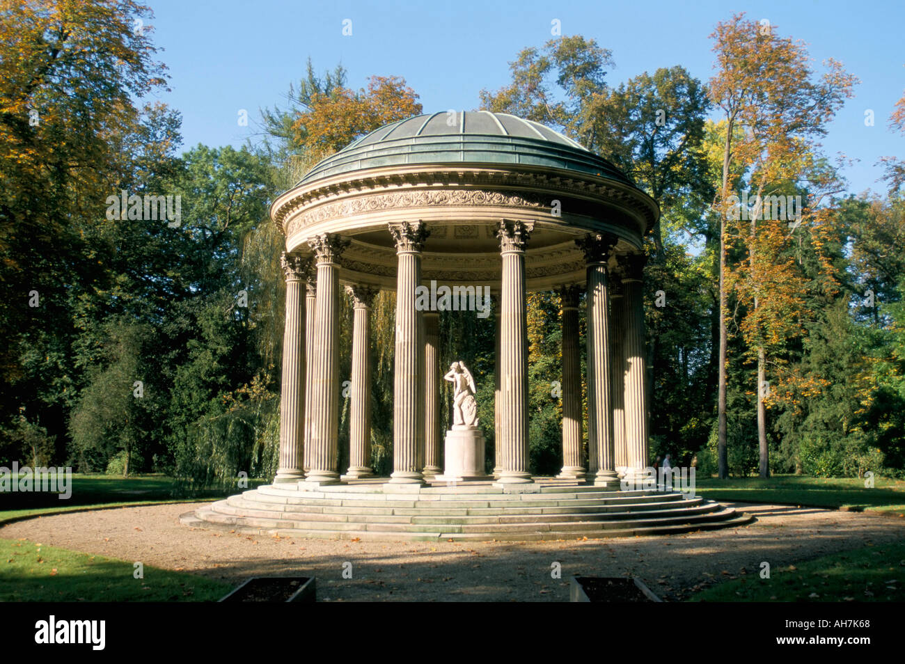 Temple de l Amour Temple of Love Chateau of Versailles UNESCO World Heritage Site Les Yvelines France Europe - Stock Image