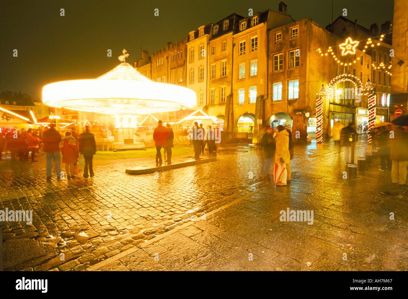 christmas market place saint louis st louis square metz moselle