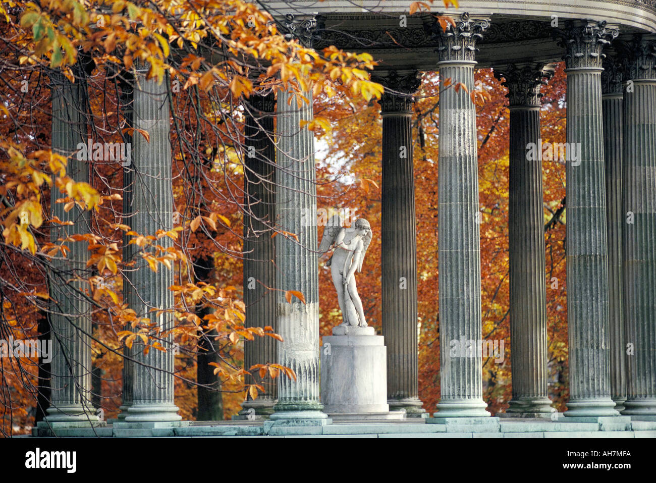 Temple de l Amour Petit Trianon Chateau of Versailles dating from 17th century UNESCO World Heritage Site Yvelines France Europe - Stock Image