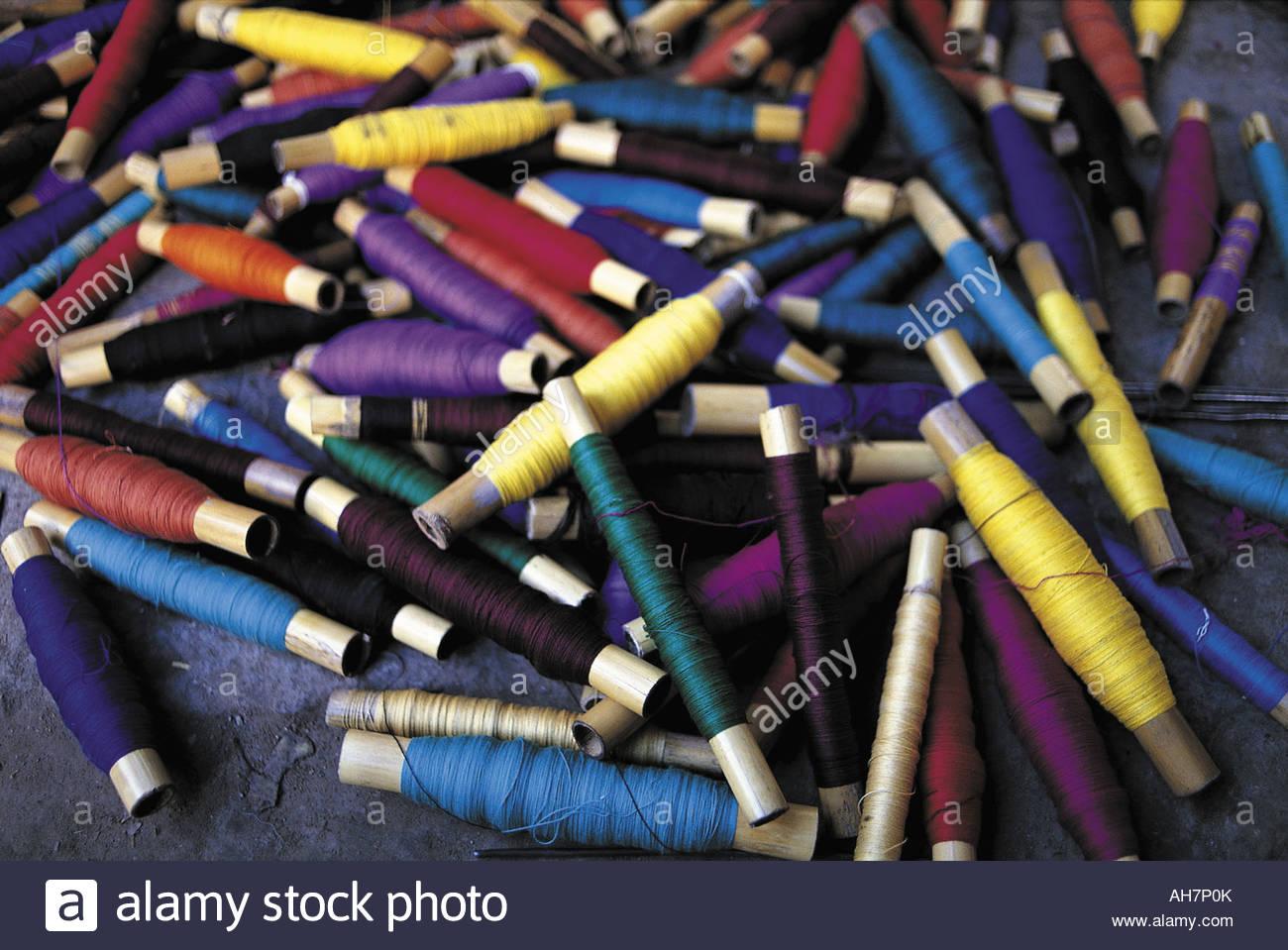 Guatemala San Antonio Palopo Embroidery Threads Stock Photo