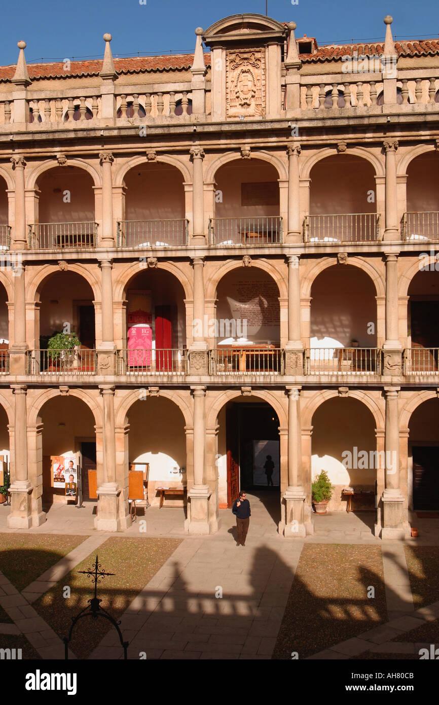 Alcala de Henares Spain University Patio Mayor - Stock Image