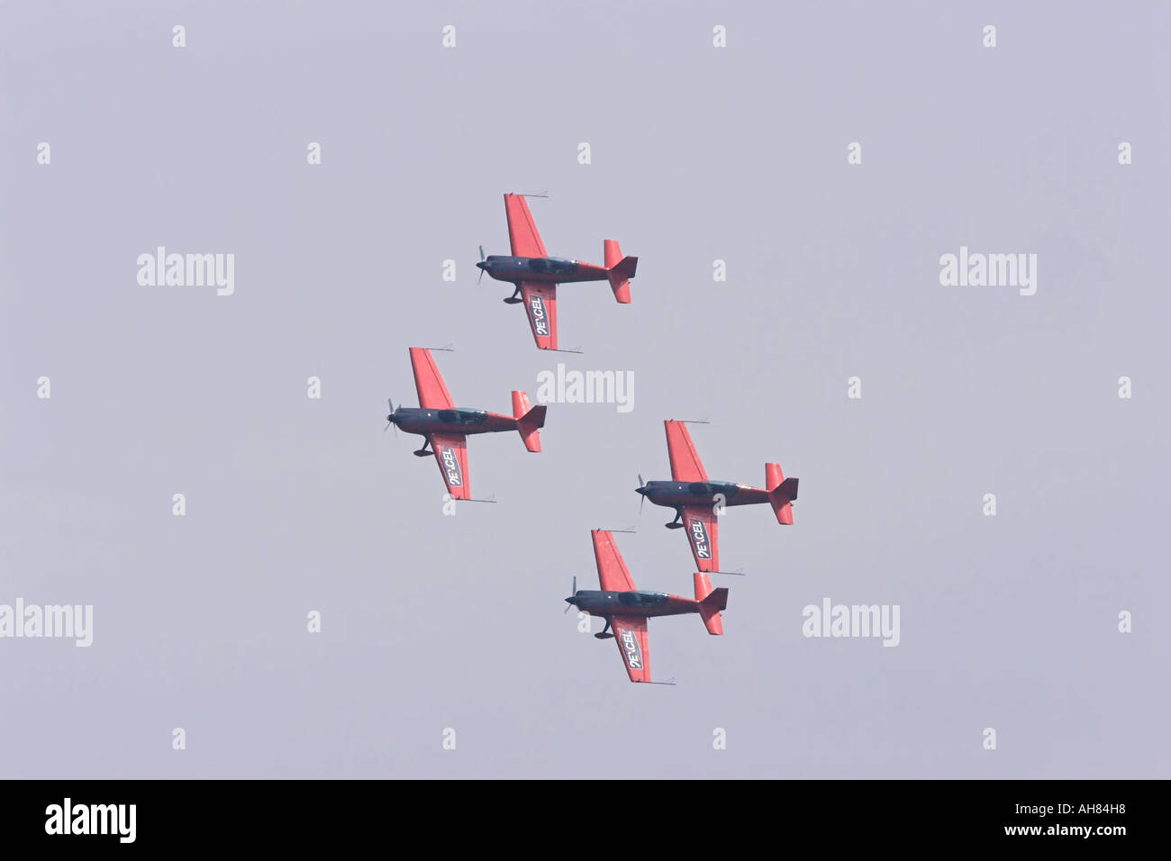 excel blades in a formation turn - Stock Image