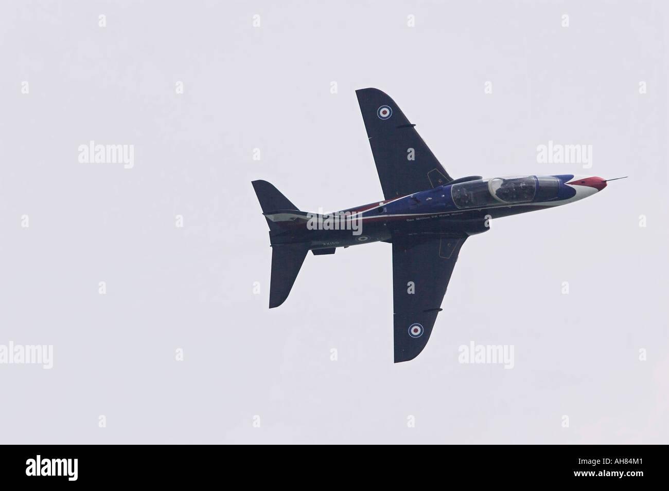 BA british aerospace hawk fighter airplane display - Stock Image