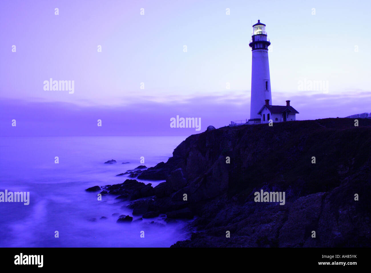 Pigeon Point Lighthouse, California Stock Photo