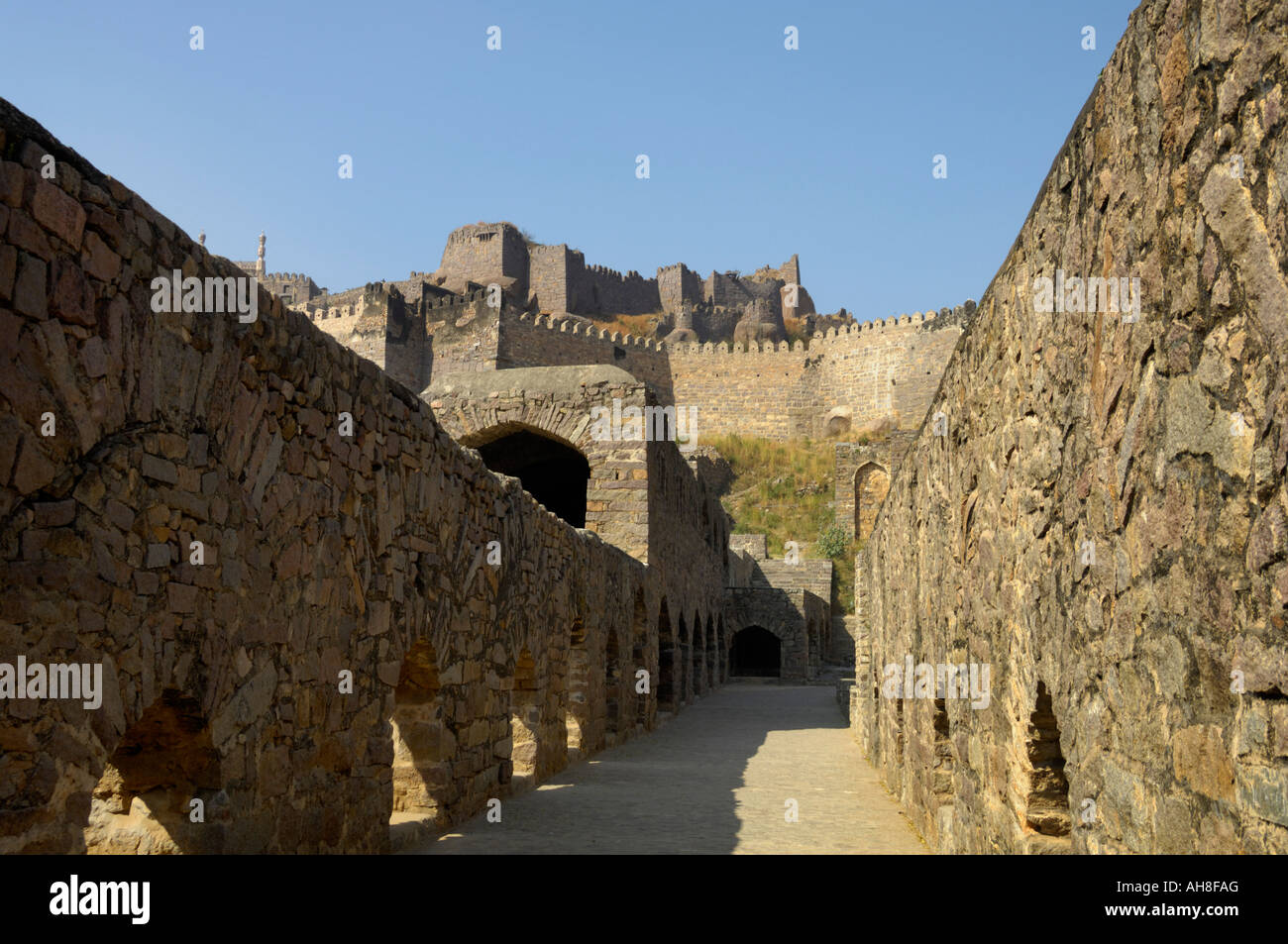 Two storey residence of ministers Akkana and Madanna Golconda fort Hyderabad Andhra Pradesh India - Stock Image