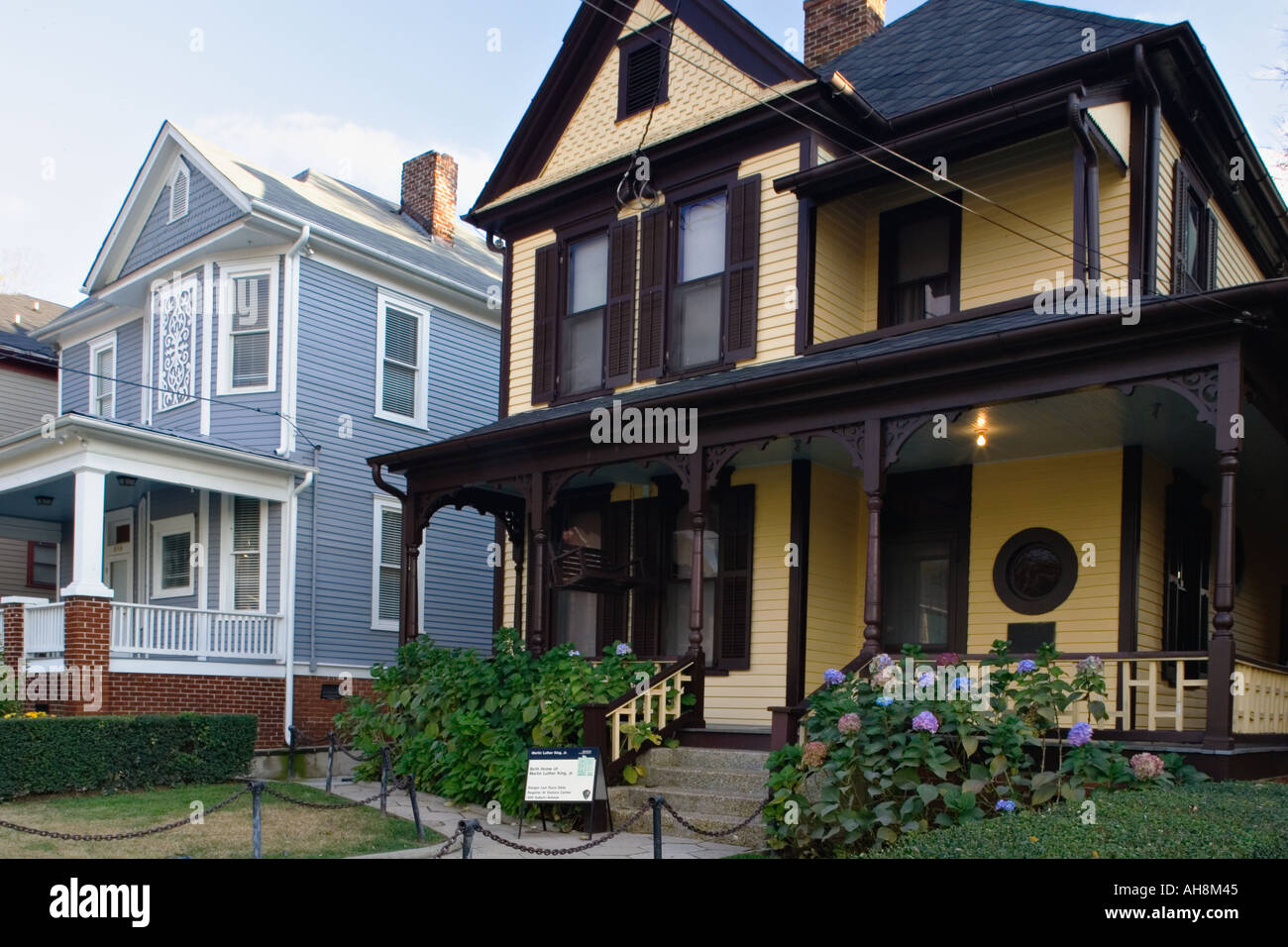 Birthplace of civil rights leader Martin Luther King Jr at the National Historic Site in Atlanta Georgia - Stock Image
