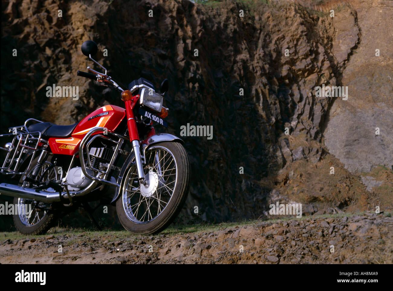 AAD71495 Transport Bike Suzuki model AX 100R - Stock Image