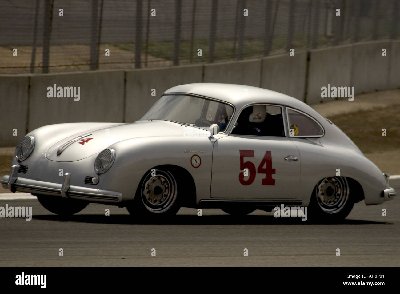Historic Racing Car on Track Monterey Historic Automobile Races - Stock Image