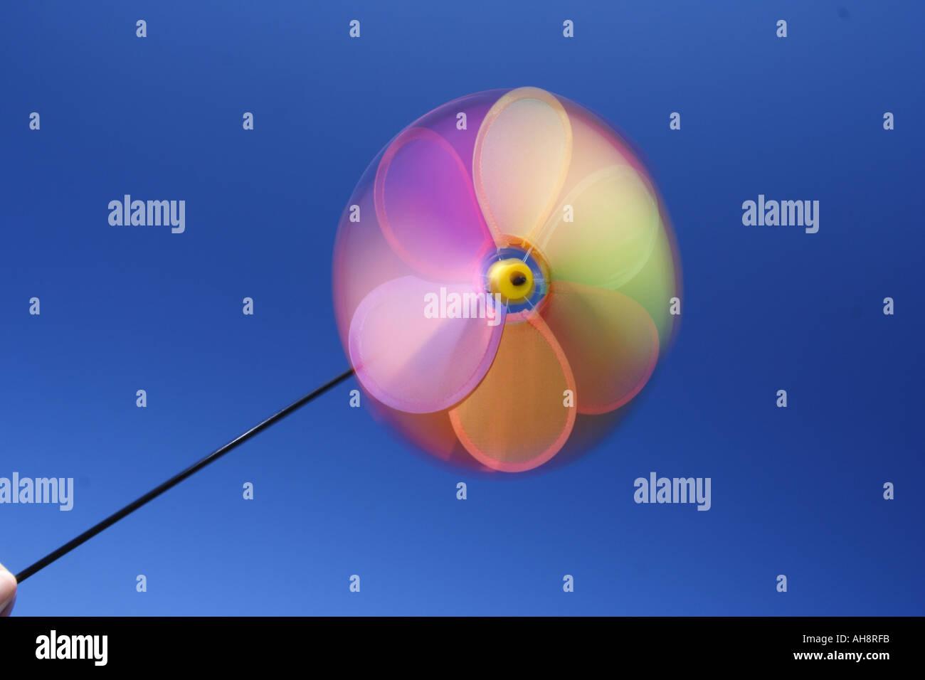 A brightly coloured pinwheel BAPD 2469 - Stock Image